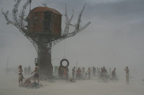 Tree House in a Storm