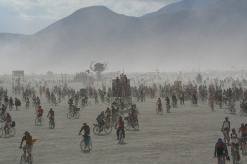 Bicycle Army Gathers on the Playa
