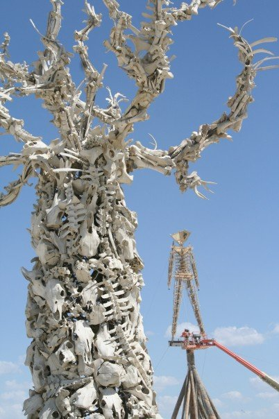 Tree of Bones & Burning Man