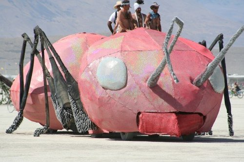 Ant Art Car Rocks the Playa